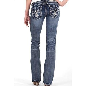 ROCK REVIVAL | Shasha Boot Cut Studded Jeans 28